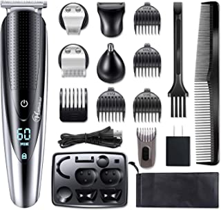 Hatteker Mens Hair Clipper Beard Trimmer Grooming kit Hair trimmer Mustache trimmer Body groomer Trimmer for Nose Ear Faci...