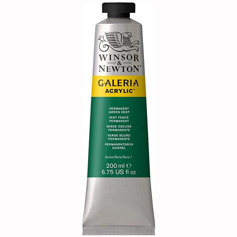 Winsor & Newton Galeria Acrylics - Permanent Green Deep - 200ml Tube