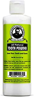 Sponsored Ad - Uncle Harry's Remineralizing Tooth Powder | All Natural Enamel Support & Whitening Toothpaste for Sensitive...