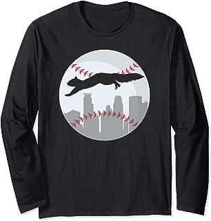 Minneapolis Minnesota Squirrel Silhouette Long Sleeve T-Shirt
