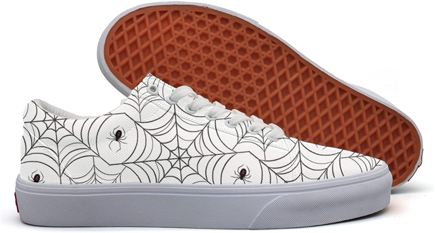 Spider Web Lights Women's Casual Sneakers shoes Canvas Lo-Top Low Top Trainers