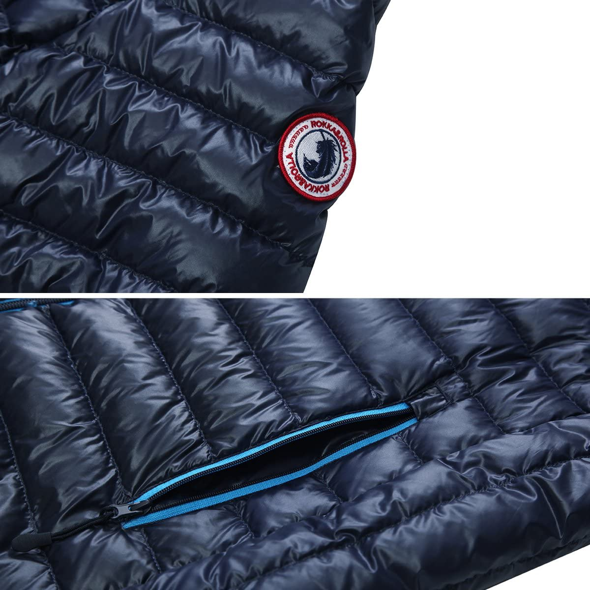 Rokka&Rolla Men's Lightweight Packable Down Puffer Jacket Coat