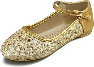Hawkwell Girls Ballerina Flat Mary Jane Slip-on Dress Shoes (Toddler/Little Kid/Big Kid)