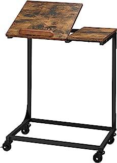 VASAGLE Table Mobile, Bureaud'étude, Table pour Ordinateur Portable, Dessus inclinable, Cadre en Acier,Salon, Montage Faci...