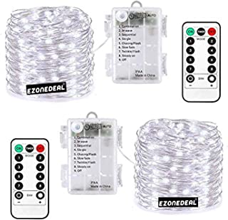 Fairy Lights 200 LED 20m Battery Operated Fairy Lights with Remote Timer Twinkle Starry String Lights Lights for Easter Ga...