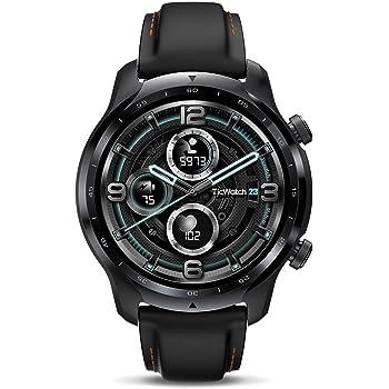 TicWatch Pro 3 GPS Smart Watch for Men Women Qualcomm Snapdragon Wear 4100 Platform Health Fitness Monitoring Long Battery Life Built-in GPS NFC Heart Rate Sleep Tracking Wear OS by Google smartwatch