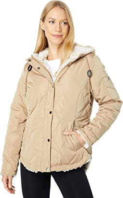 Reversible Jacket with Two-Tone Sherpa