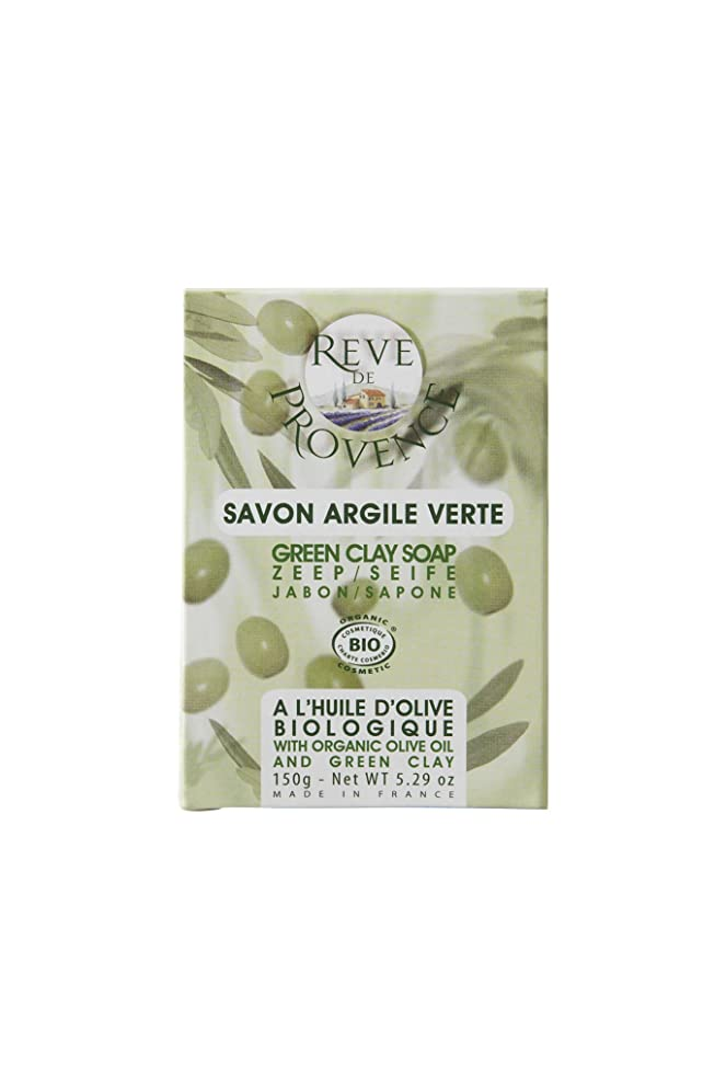 エアコン縫い目穀物レーヴ ド プロバンス オーガニックソープ [オリーブ&グリーンクレイ] 脂性肌用 150g