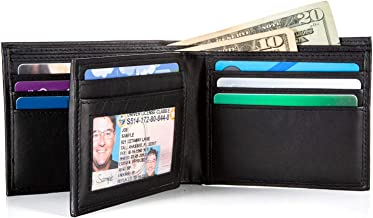 Extra Capacity Bifold Wallet for Men - RFID Blocking Genuine Leather Wallet