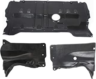 Engine Splash Shield Compatible with MAZDA 3 2004-2009 / Mazda 5 2006-2010 Set of 3 Under Cover Right Side and Left Side Rear