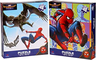 Bundle Set of 2 Marvel Spider-Man 48 Pieces Jigsaw Puzzle (10 x 9 inches)