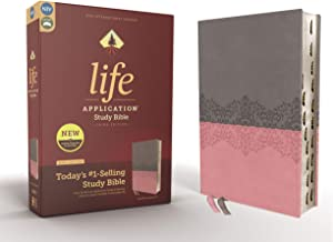 NIV, Life Application Study Bible, Third Edition, Leathersoft, Gray/Pink, Red Letter Edition, Thumb Indexed