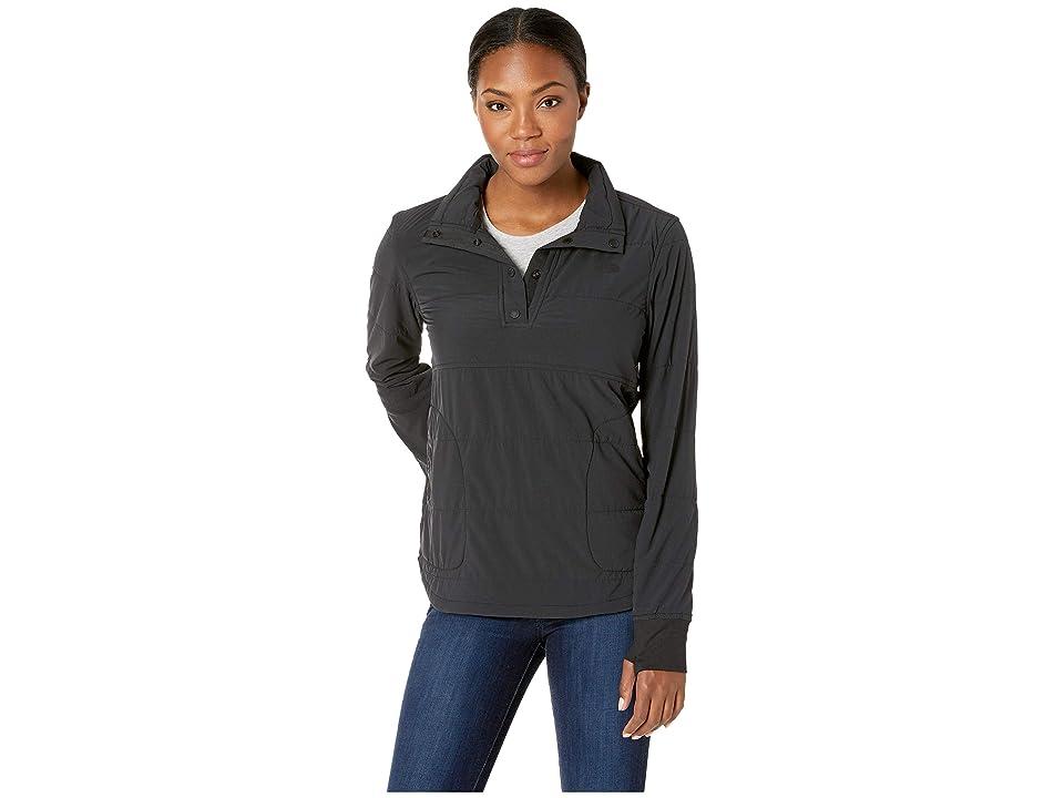 The North Face Mountain 1/4 Zip Snap Sweatshirt (TNF Black/TNF Black) Women
