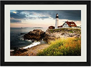 CALIFORNIA The North Coast by Gerald Brimacombe FRAMED PRINT 10x26 Redwoods