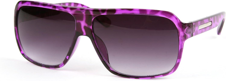 Retro Fashion Wayfarer Vintage Style Unisex Sunglasses P2115 (Purple Tortoise-Gradient Smoke Lens) : Clothing, Shoes & Jewelry