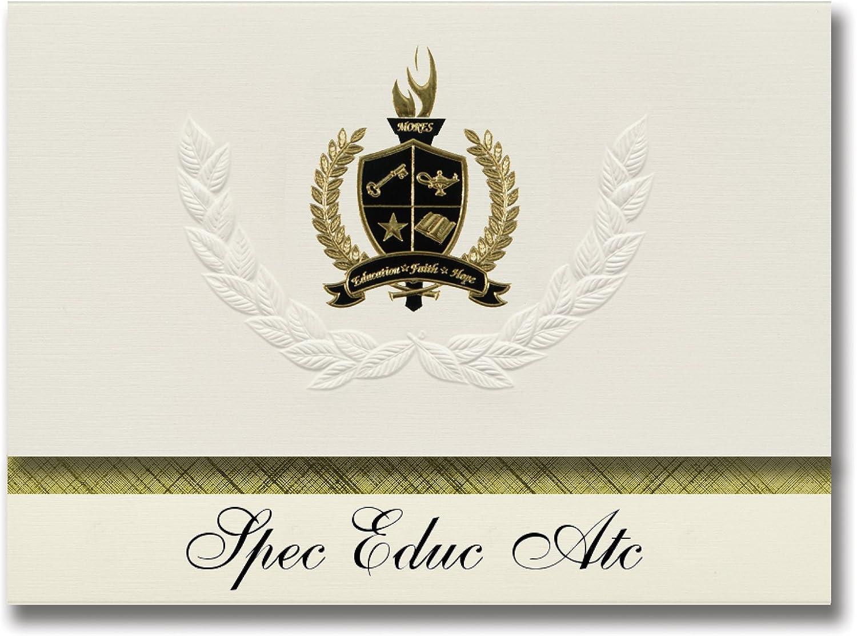 Signature Ankündigungen Spec Spec Spec EDUC ATC (Ogden, UT) Graduation Ankündigungen, Presidential Stil, Elite Paket 25 Stück mit Gold & Schwarz Metallic Folie Dichtung B078VD2XTV   | Outlet Store  09472c