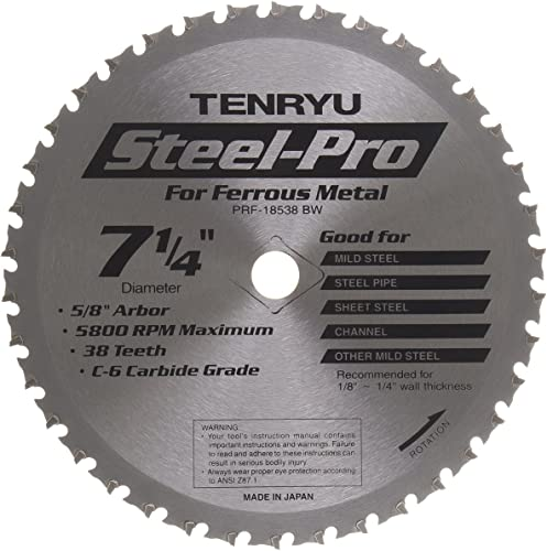 """wholesale Tenryu PRF-18538BW 7-1/4"""" Carbide Tipped Saw Blade ( 38 Tooth ATB Grind - 5/8""""Ko Arbor discount outlet sale - 0.079 Kerf) online sale"""