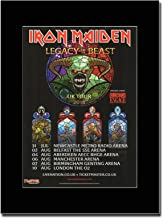 gasolinerainbows - Iron Maiden - Legacy of The Beast UK Tour Dates 2018 - Matted Mounted Magazine Promotional Artwork on a Black Mount