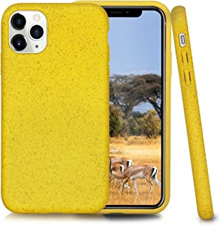 Biodegradable Phone Case for iPhone 11 Pro,5.8 Inches,Shock-Proof Yet Slim (Cyber Yellow)