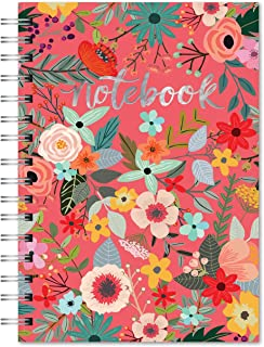 Studio Oh! 82471 Hardcover Spiral Notebook Available in 9 Different Designs, Secret Garden