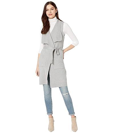 Cupcakes and Cashmere Carmen Drape Front Sweater Knit Vest (Light Heather) Women