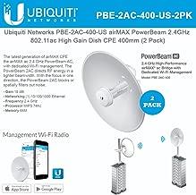 Ubiquiti Network PBE-2AC-400 US airMAX PowerBeam 2.4GHz 802.11ac High Gain Dish CPE 400mm (2 Pack)