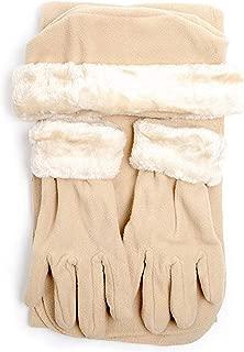Women's Solid Polyester Fleece 3-Piece gloves scarf Hat Winter Set