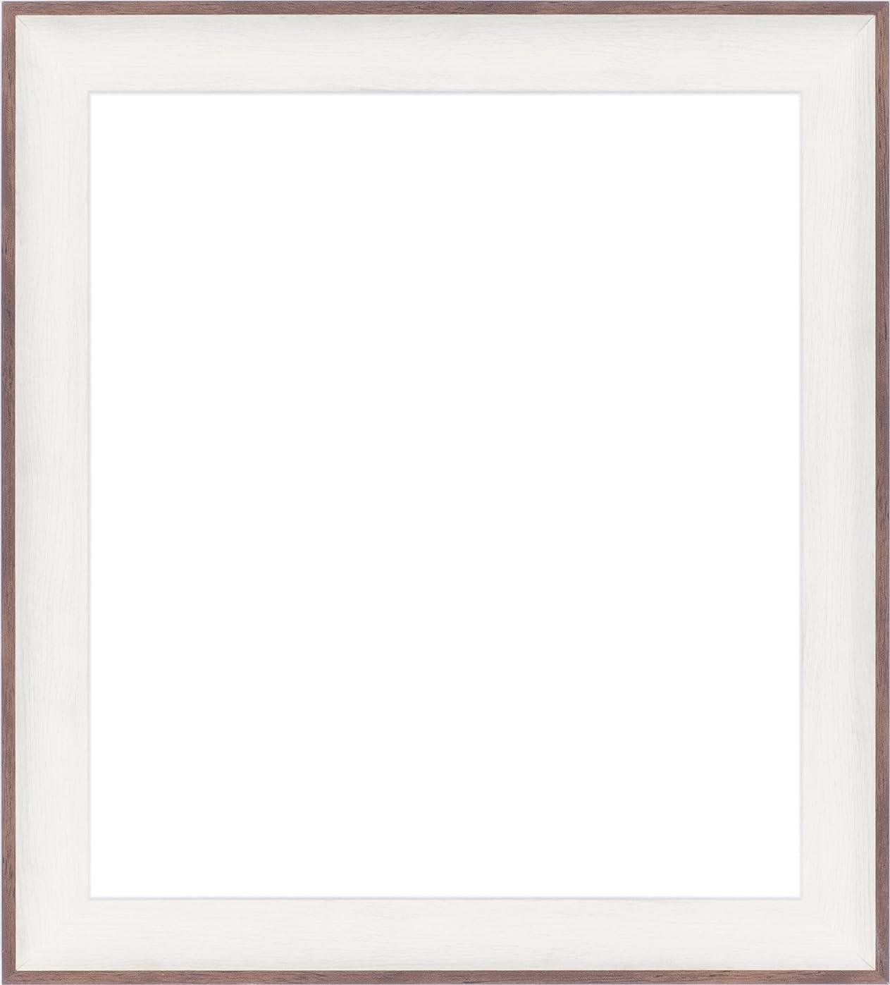 暖かくアーサー打倒色紙額縁 3709 UVカットアクリル仕様 (ホワイトブラウン)