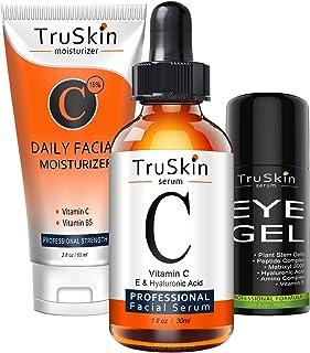 TruSkin Daily Essentials Trio with Vitamin C Serum, Eye Gel and Vitamin C Moisturizer