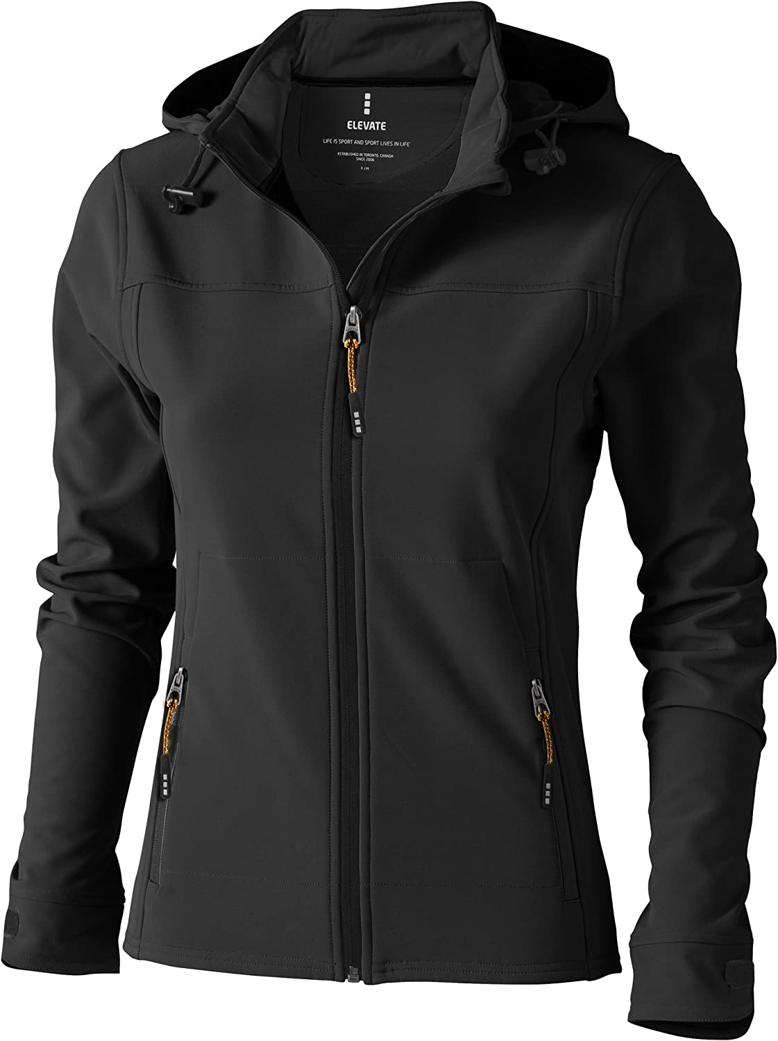 Elevate Womens Ladies Langley Softshell Jacket (XL) (Anthracite)