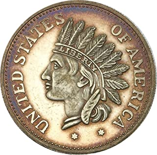 Rare Antique USA United States 1851 Year One Dollar Indian Head Silver Color Coin