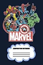 "Marvel Avengers Team Retro Comic Vintage Graphic 3M7DQ Notebook: 120 Wide Lined Pages - 6"" x 9"" - College Ruled Journal Bo..."