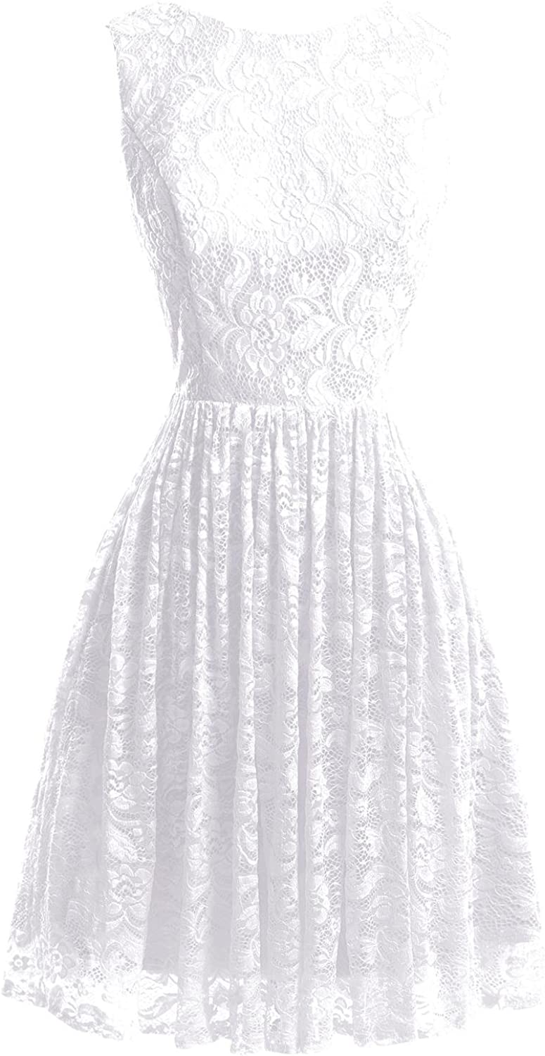 Bess Bridal Women's Lace Flower Short Homecoming Prom Party Dresses