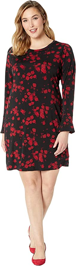 Plus Size Eden Rose Flounce Dress