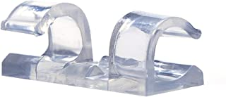 Cable Clips with Strong Self-Adhesive Pads - No Tools Required   Organize Cords and Wires for a Clean, Beautiful Home or Office   Set of 20   Clear - by Titan Grip