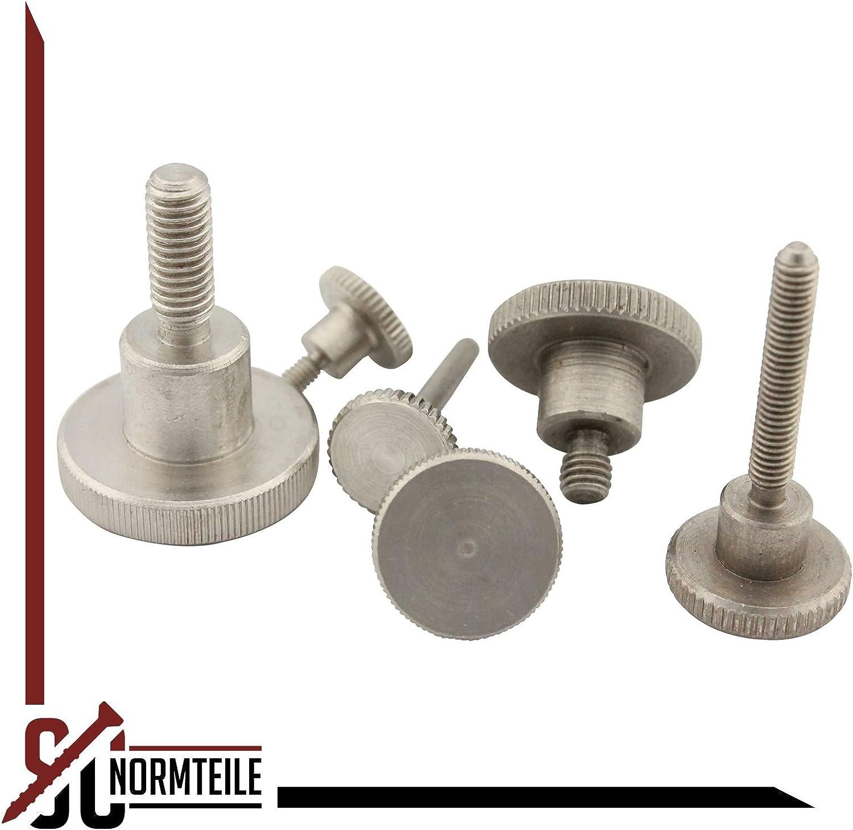 - M4x16 - R/ändelschrauben aus rostfreiem Edelstahl A1 - DIN 464 - SC464 hohe Form VA 2 St/ück