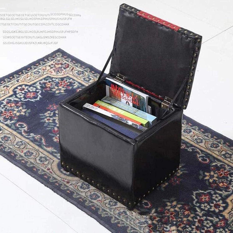 Chambre Tabouret Pouf de rangement - cuirette place Pouf de rangement Repose-pieds Couvercle moderne Tabouret de ménage,#1 #9