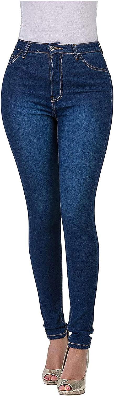 Bravetoshop Women High Waist Skinny Stretch Jeans Classic Denim Pants Casual Trousers Fashion Streetwear