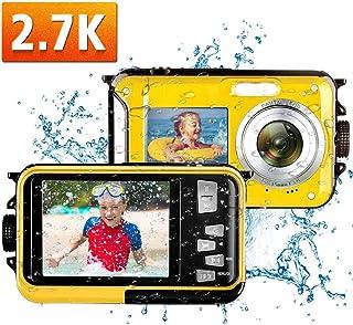 防水カメラ デジカメ 水中カメラ 防水 デジタルカメラ フルHD 1080P 24.0MP スポーツカメラデュアルスクリーン オートフォーカス デジカメ 水に浮く