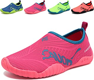 DESTURE Toddler Boy Water Shoes Quick-Dry Kid Girl Slip-on Aqua Beach Sneakers