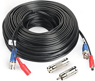 SHD 100Feet BNC Vedio Power Cable Pre-Made Al-in-One Camera Video BNC Cable Wire Cord for Surveillance CCTV Security System with Connectors(BNC Female and BNC to RCA)