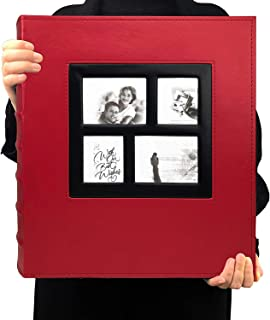 TIM 500 photo photo album memo slot photo album PU leather cover stitched and glued can hold 4x6 photos per page 5 family ...