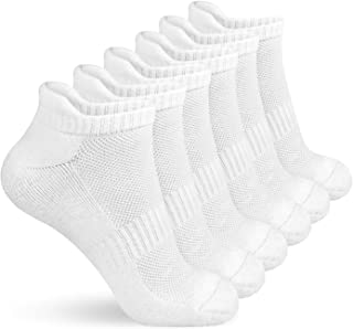 TECHTIC Running Socks Ankle Athletic Socks with Cushion Breathable Comfort Tab for Women Men Athletic Sports