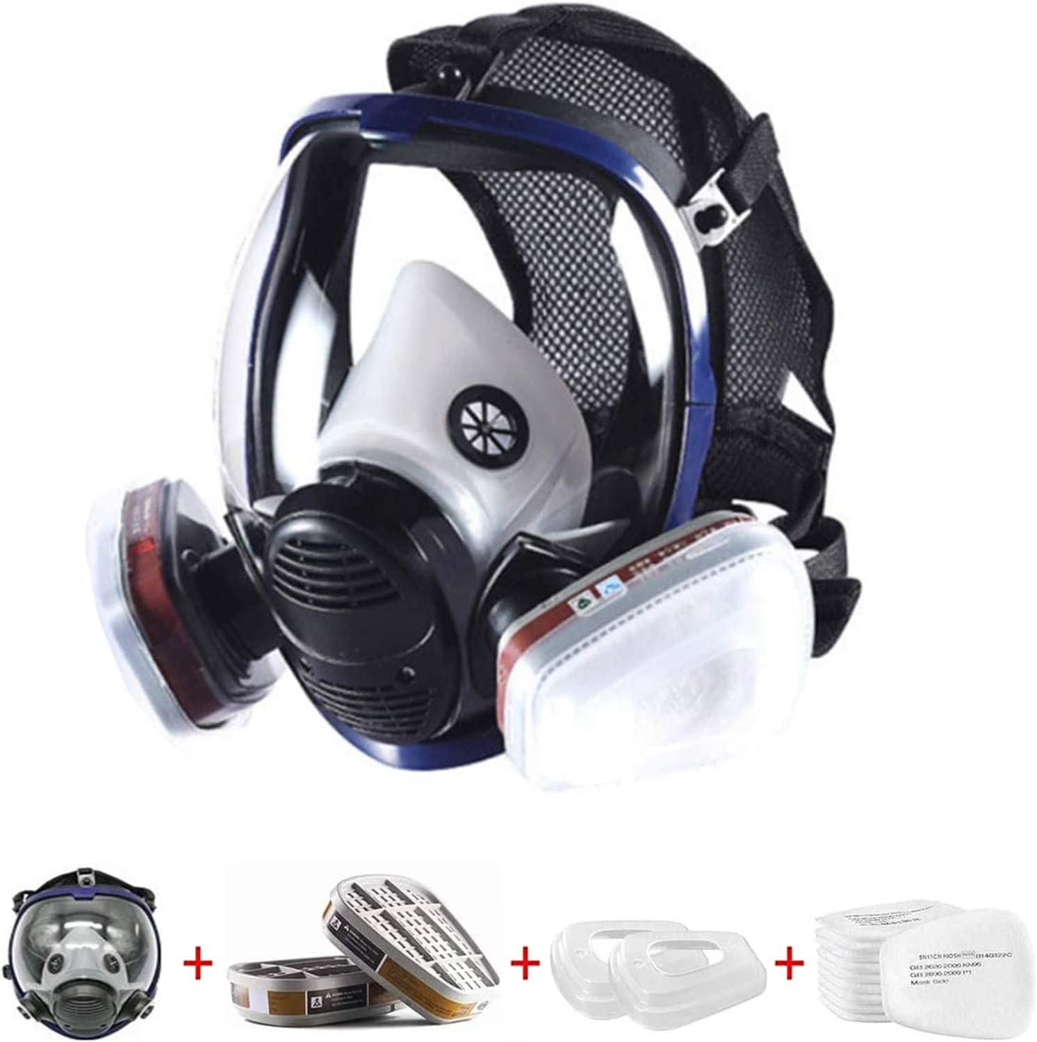 15 100% quality warranty in 1 Full Face Respirator Widely with Used Filters Organic Spring new work one after another