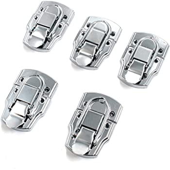 Jewelry Box Suitcase Cabinet Lock Buckles Toggle Hasp Latch Catch Clasp Silver
