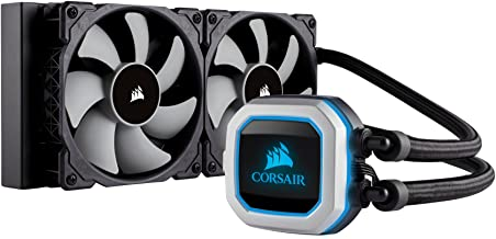 Corsair Hydro Series H100i PRO RGB AIO Liquid CPU Cooler, 240mm, Dual ML120 PWM Fans, Intel 115x/2066, AMD AM4