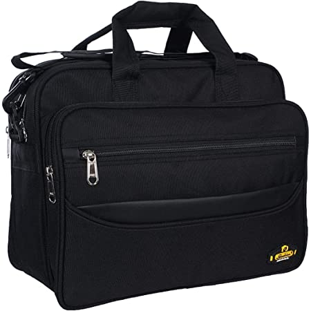 AS Grabion High Durable Water Resistant Polyester Office/Messenger Bags for Men and Women (Black)