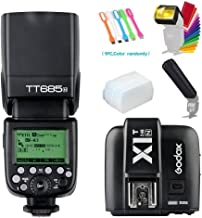 Godox TT685N I-TTL 2.4GHz GN60 High-Speed Sync 1/8000s Master Slave Flash Speedlite Speedlight with X1T-N Wireless Trigger Transmitter Compatible for Nikon Cameras &Diffuser & Filter & Snoot & USB LED