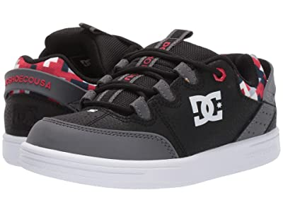 DC Kids Syntax (Little Kid/Big Kid) (Black/Grey/Black) Boys Shoes