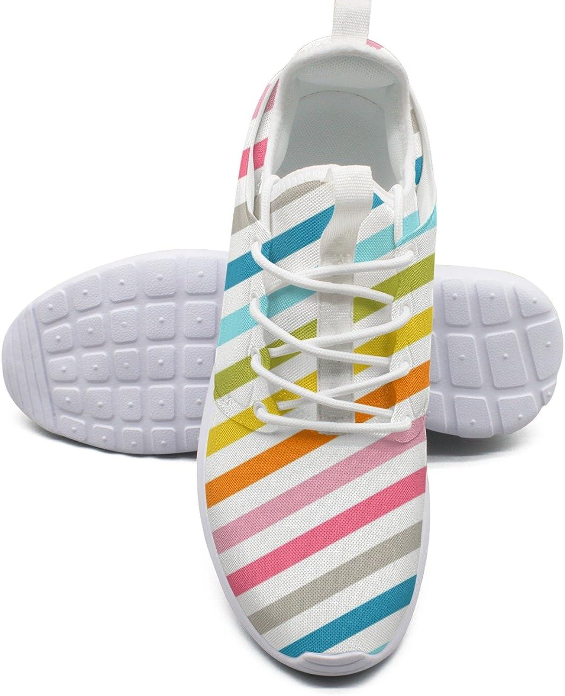 ERSER Rainbow Zebra Stripes Run shoes Women